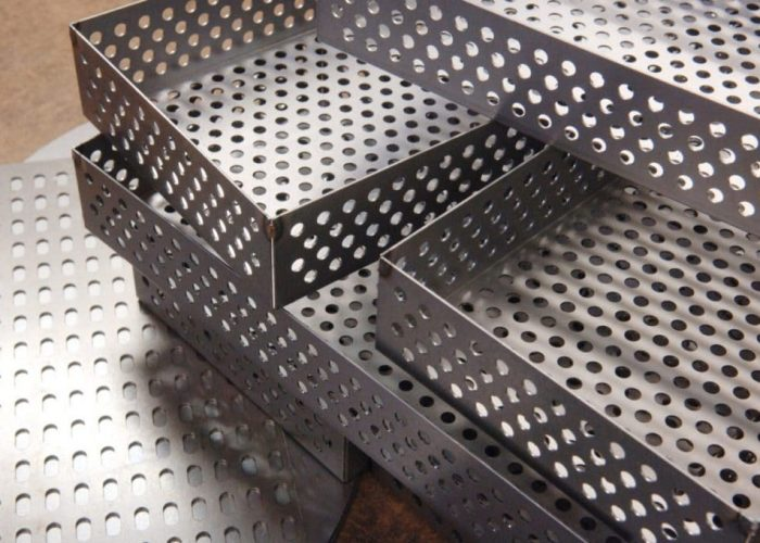 custom metal perforating, Perforated Metal for the Display Industry, perforated metal store fixtures and displays