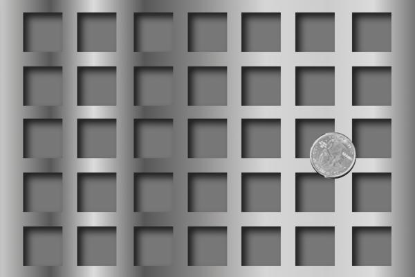 square metal perforations, perforated square metal, meatal perforated sqaure