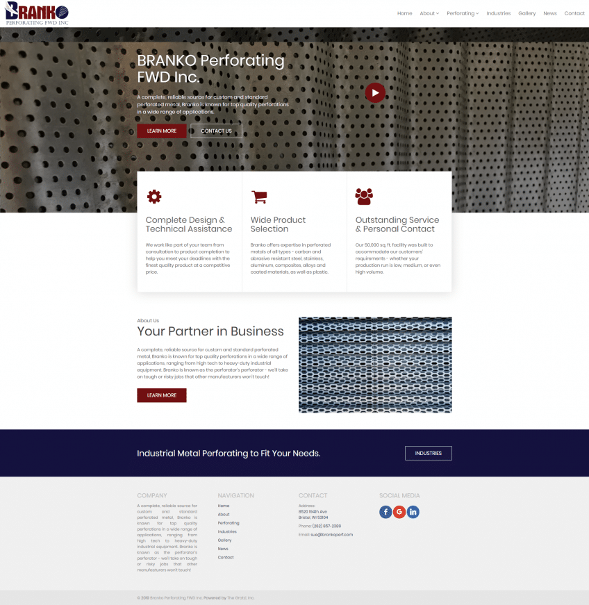 branko perforating, perforated metals, perforated metal supplier