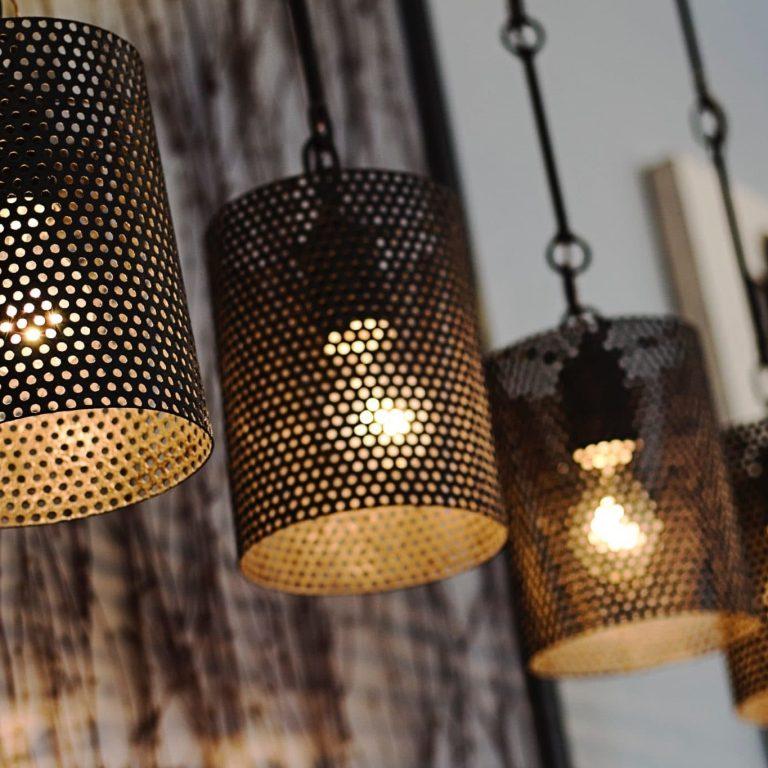perforated metal in lighting industry, branko perforating, custom metal perforating