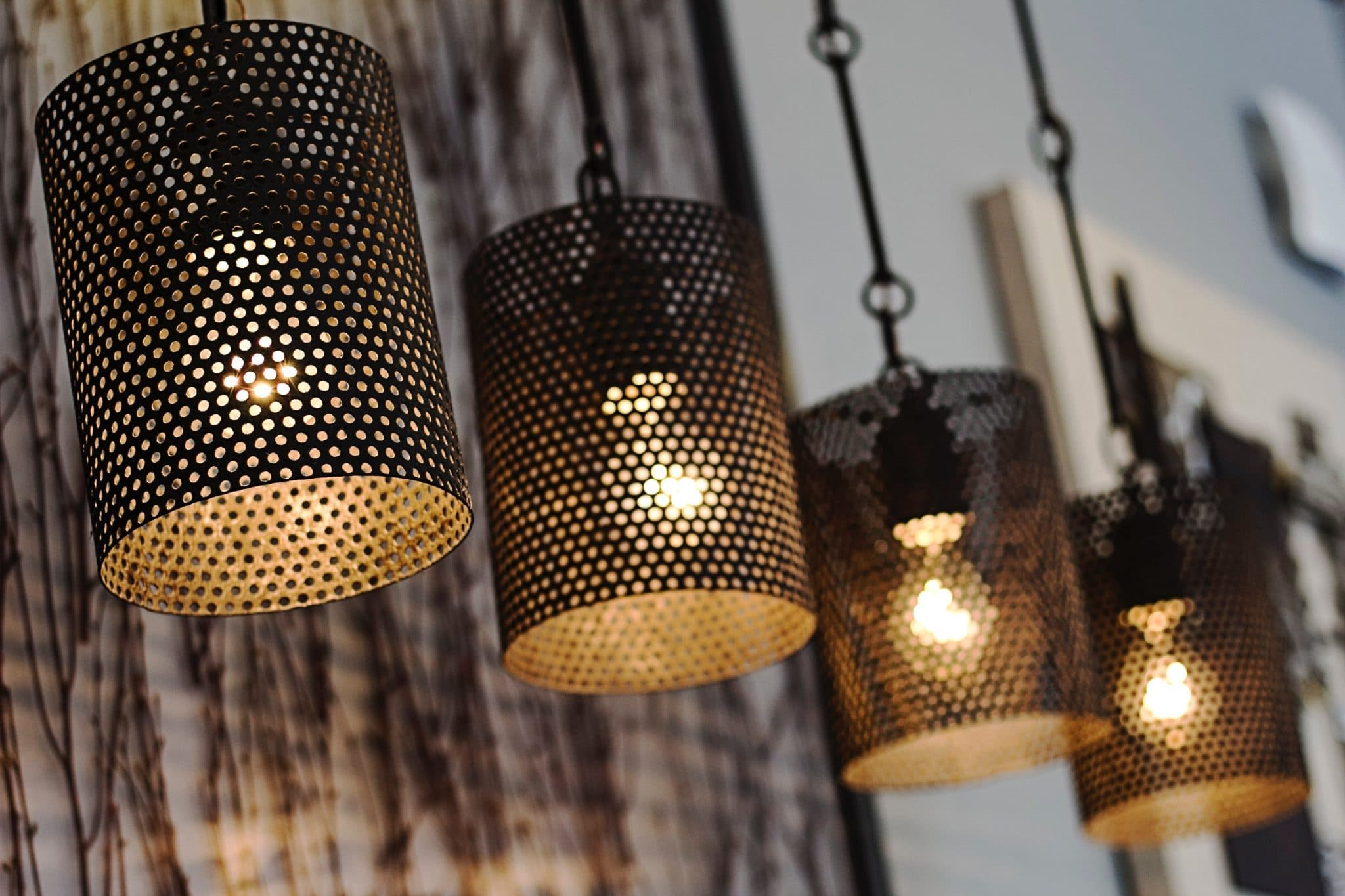 perforated metal in lighting industry, branko perforating, custom metal perforating